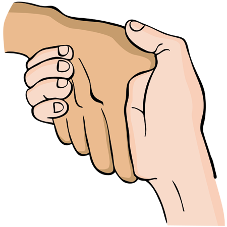 pevný stisk rúk